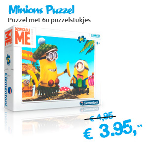 minions puzzel met 60 puzzelstukjes