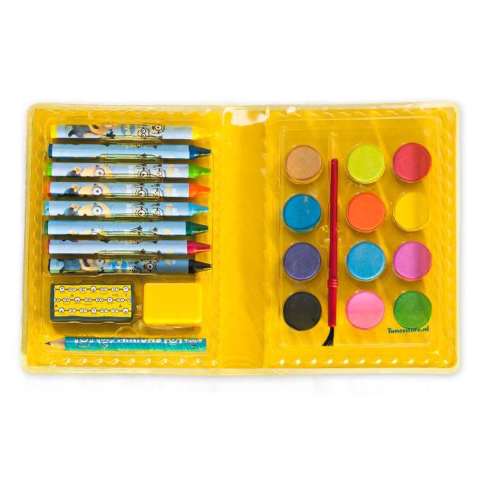 Minions kleurset kleur box waskrijt