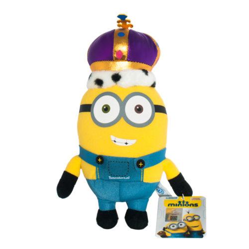 Minions knuffel koning Bob