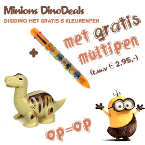 DigiDino met gratis mulikleuren pen