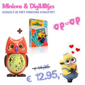Minions Kwartetspel met DigiUiltje Combinatie aanbieding