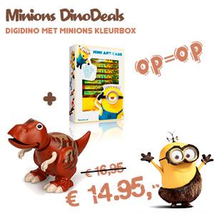 Minion aanbieding DigiDino met kleurkoffer