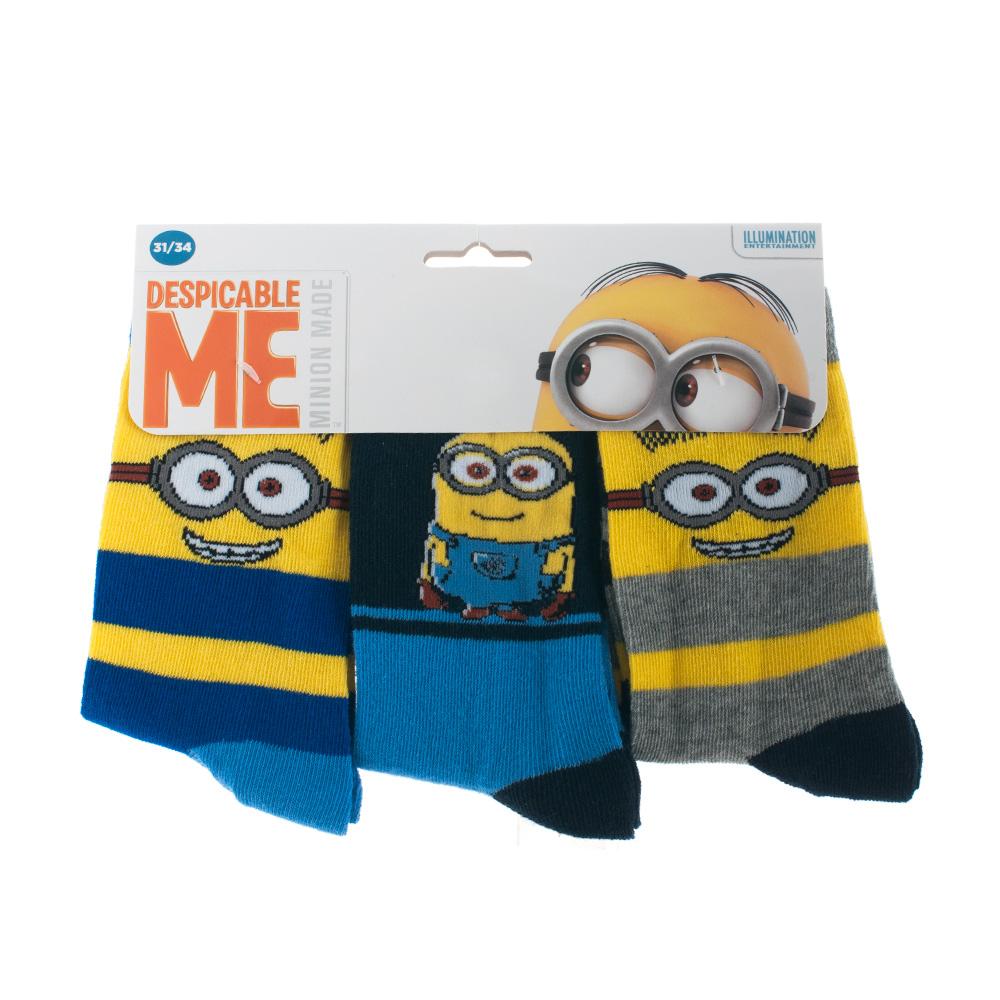 Minions sokken 3 pack