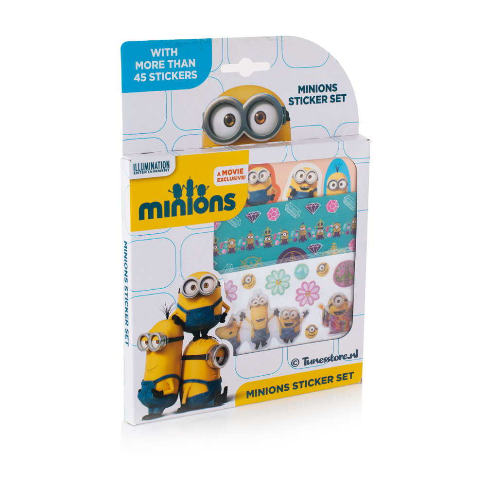 Minions Sticker set met 3 verschillen stickervellen