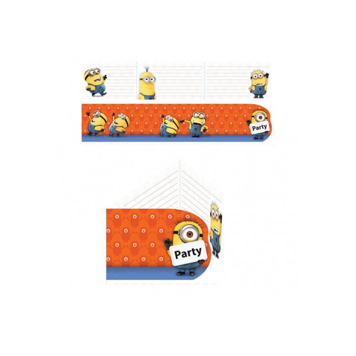 Minions uitnodigingen, kaarten en enveloppen